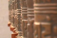 Tibetan Prayer Wheels Stock Footage