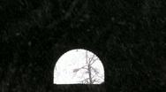 Dark tunnel in snow storm P HD Stock Footage
