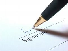 Signature writing Stock Footage