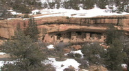 Stock Video Footage of Mesa Verde Spruce Tree ruin zoom in P HD