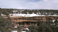 Stock Video Footage of Mesa Verde Cliff Palace ruin winter P HD