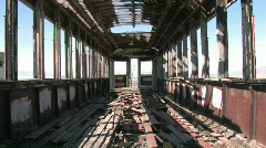 Train car old zoom in inside P HD Stock Footage