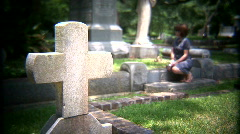 Mourning woman Stock Footage