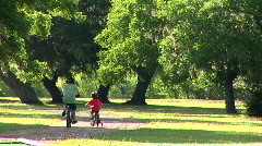 father son bike riding - stock footage