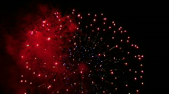 Fireworks with sound Stock Footage