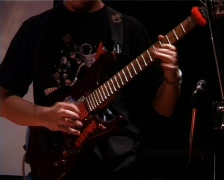 Musician Playing Guitar - stock footage