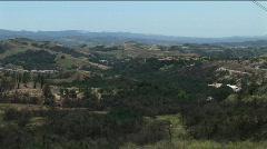 Pan of Canyon Vista 02 Stock Footage