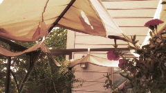 Stormdamage torn canopy Stock Footage