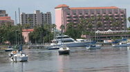 Boats In Harbor Stock Footage