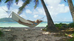 Shot transition woman napping in hammock Stock Footage