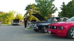 jm423-Carshow Pan - stock footage