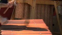 Marimba closeup Stock Footage