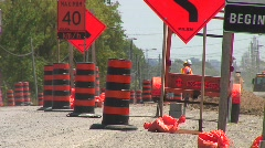 Jm440-Road Work Ahead Stock Footage