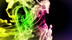 Colorful lazy smoke - digital animation - stock footage