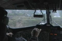 Lukla Airport Nepal- Dangerous Airplane landing  Stock Footage