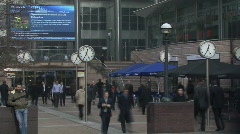 Canary Warf time lapse Stock Footage