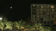 Stock Video Footage of Luxury hotel by night