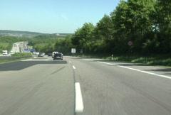 Stock Video Footage of German Autobahn