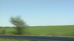 German Autobahn side view Stock Footage