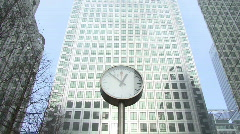 Clock and Building time lapse Stock Footage