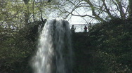 Bad Urach Waterfall Stock Footage