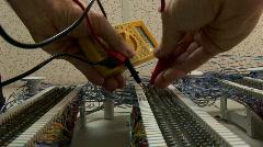 Phone line repair 2 Stock Footage
