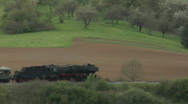 Stock Video Footage of Steam train passing