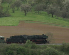 Steam train passing - stock footage