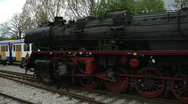 Stock Video Footage of Steam train in station