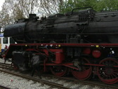 Steam train in station Stock Footage