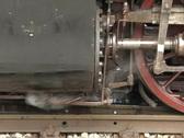 Steam train - detail shot Stock Footage