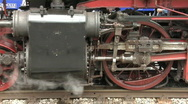 Stock Video Footage of Steam train - detail shot