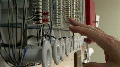 Phone line repair Stock Footage