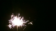 Moving sparkler Stock Footage