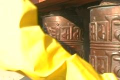 Close up prayer wheels spinning Stock Footage