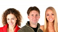 Group people faces Stock Footage