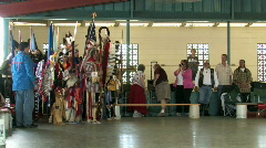 Indian Powow flags ceremony celebration M HD Stock Footage