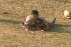 Sherpa Kids Play - stock footage