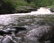 Andean river rising after heavy rain Stock Footage