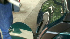 pumping gas - stock footage