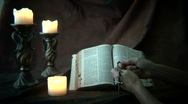 Bible candles 2 Stock Footage