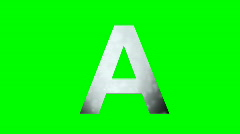 """A"" Chromakey Green Screen Animated Fire Snow Water Explosion Lettering - stock footage"
