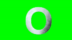 """O"" Chromakey Green Screen Animated Fire Snow Water Explosion Lettering - stock footage"