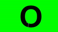"Stock Video Footage of ""O"" Chromakey Green Screen Animated Fire Snow Water Explosion Lettering"