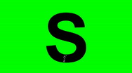"Stock Video Footage of ""S"" Chromakey Green Screen Animated Fire Snow Water Explosion Lettering"