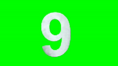 """9"" Chromakey Green Screen Animated Fire Snow Water Explosion Lettering - stock footage"