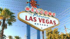 Welcome to Las Vegas Sign on Strip in Nevada - stock footage