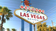 Welcome to Las Vegas Sign on Strip in Nevada Stock Footage