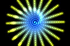 Hypnotic star - digital animation - stock footage