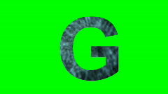 """G"" Chromakey Green Screen Animated Fire Snow Water Explosion Lettering - stock footage"